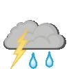 Regn og torden