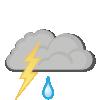 Light rain and thunder