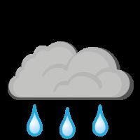 Météo à Brevik : Grosse pluie