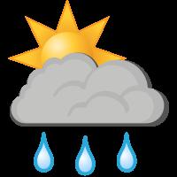 Météo à Sandnessjøen : Grosse pluie Averses