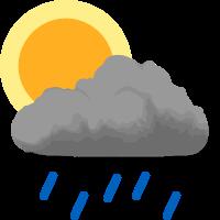 Přeháňky s déšťem