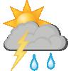 Regnbyger og torden